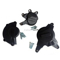 Motorcycles Black Engine Cover Protection Case For Honda CBR600RR 07 16 15 14 With GB Logo