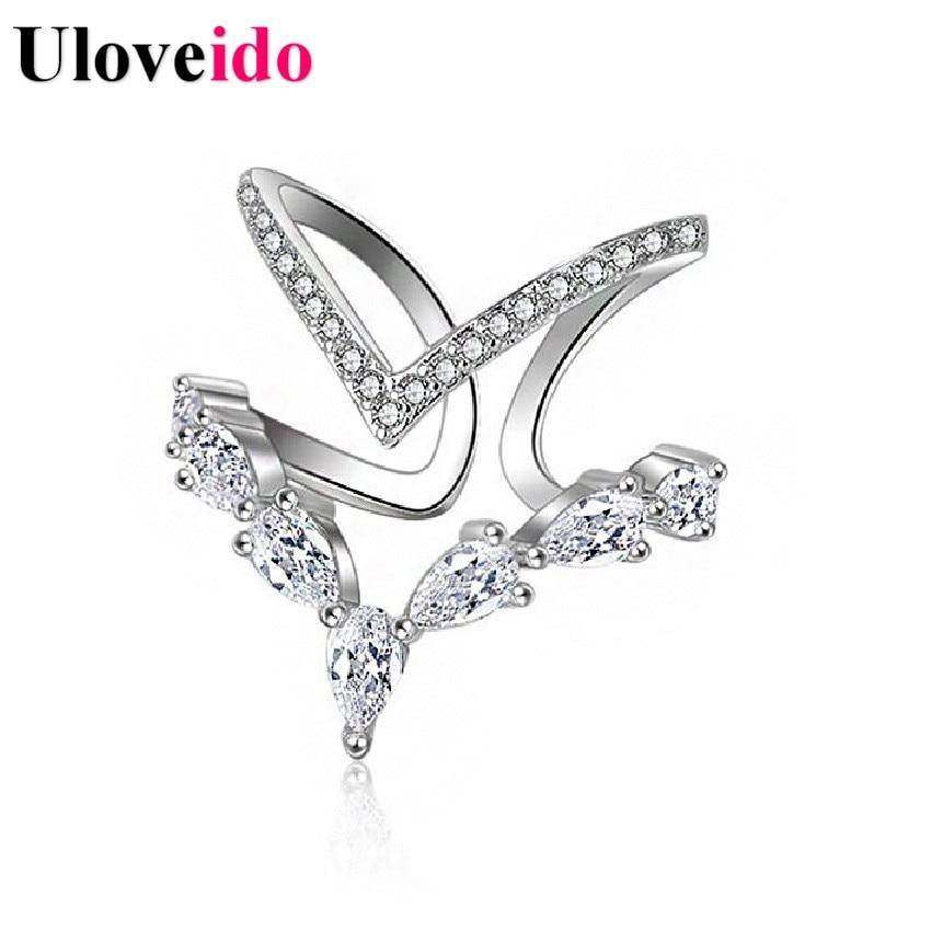 uloveido adjustable wedding ring silver women rings 2017 sale big love ring bague femme jewellery wholesale 15off jz157 - Wedding Rings On Sale