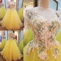 High Quality 2017 Lace Flowers Crystal Long Evening Dress Vestidos De Fiesta Open Back Lace Up Robe De Soiree Evening Gown AU77