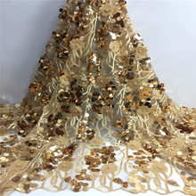 with sequins beads Flower Lace Fabric  High Quality Lace Material French Lace Fabric Nigerian Tulle Mesh Lace Fabrics fc-1900 african sequins lace fabric 2019 high quality lace material french lace fabric nigerian tulle mesh lace fabrics 24color 1101