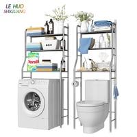 Stainless steel Over Toilet Storage Shelf Bathroom Multi function Finishing Rack Washing Machine Shelf Household Furniture