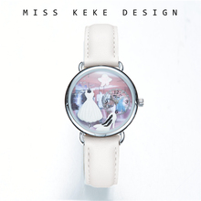 Frøken Keke 2018 New Design Clay Cute Geneva Gift Valentine Kids Dress Girl Watches Barn Kvinner Present God kvalitet