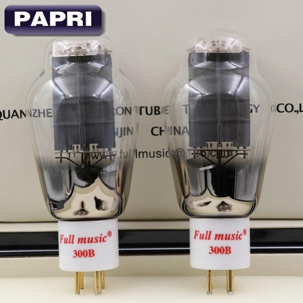 1Pair TJ Fullmusic 300B Vacuum Tube Solid Plate Gold pins Ceramic Base Alternative to other brands 300B Vacuum Tuba Audio цена 2017