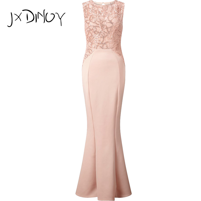 JXDINOY gauze beach embroidery Womens 2017 backless evening Sexy perspective Dresses Summer Party FLOOR LENGTH Dresses