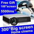 Newest! !Brightest 5500lumens Build-in Android 4.4 Wifi Projector Full HD Android LED Digital 3D Video projector