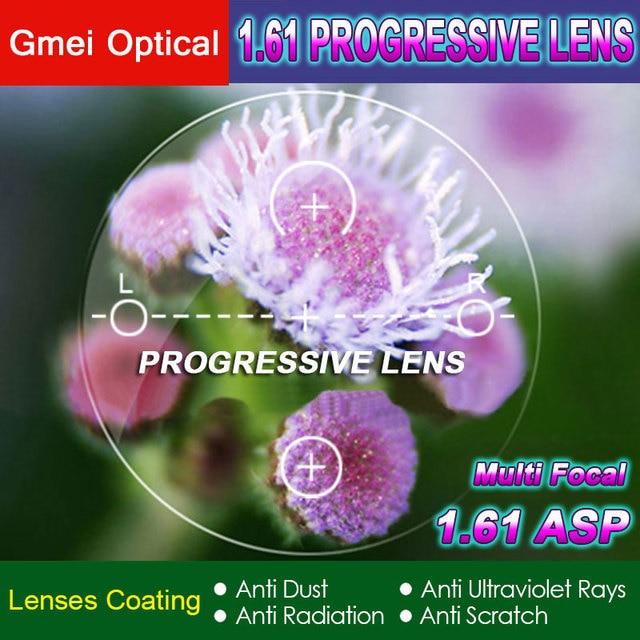 1.61 Digital Free Form Progressive No Line Multi Focal Prescription Customized Optical Lenses With Anti Reflection Coating 2 Pcs