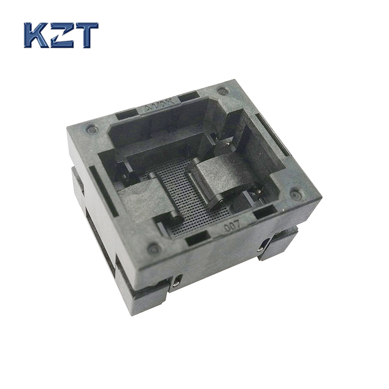 BGA80 OPEN TOP Burn in socket pitch 1.0mm IC size 8*11mm BGA80(8*11)-1.0-TP02/50N BGA80 VFBGA80 burn in programmer socket bga80 open top burn in socket pitch 0 8mm ic size 7 9mm bga80 7 9 0 8 tp01nt bga80 vfbga80 burn in programmer socket