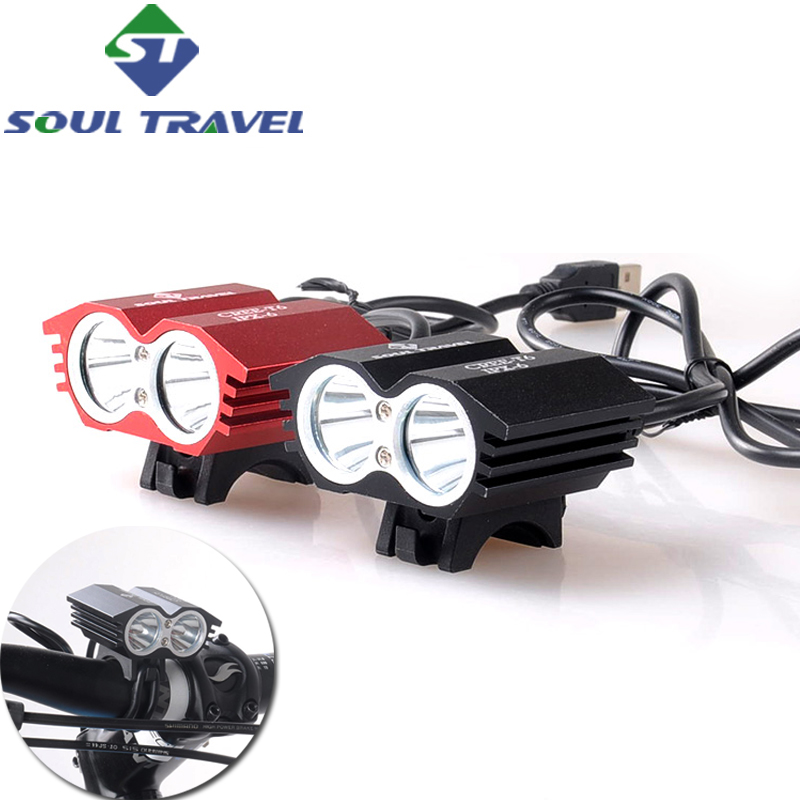 Soul Travel Bicycle Handlebar Light Cycling Front Lamp Waterproof Bike Accessories Bicicleta T6 Headlight Luces Led Battery Hot