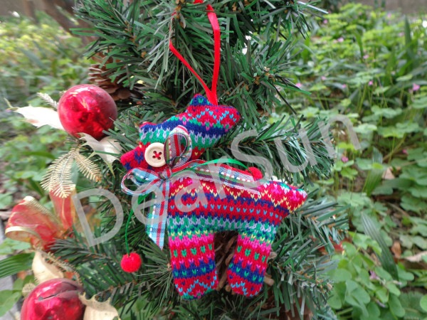 6Pcs/lot Indoor Hanging Decoration Christmas Tree Ornament Hot Sale Red Stuffed Reindeer Handicraft Party School Decoration