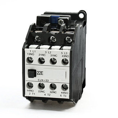 где купить 3P 220/264V 50/60Hz Coil 35mm Din Rail AC Contactor CJX1-22A 2NO 2NC дешево