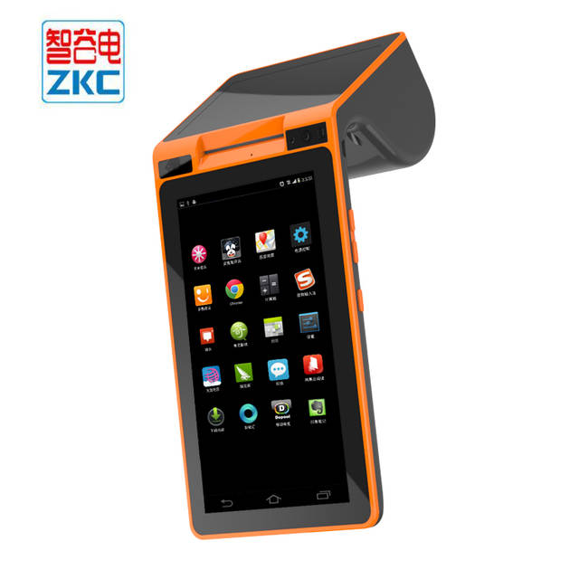 ZKC PC900S Dual screen Android NFC mobile payment POS machine support QR  CODE SCANNER WIFI BLUETOOTH 3G USB provide free SDK