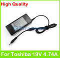 19V 4.74A 90W AC laptop adapter power supply for Toshiba Satellite C50 C55 C650 C655 C660 C665 C850 C855 E100 E105 L100 charger