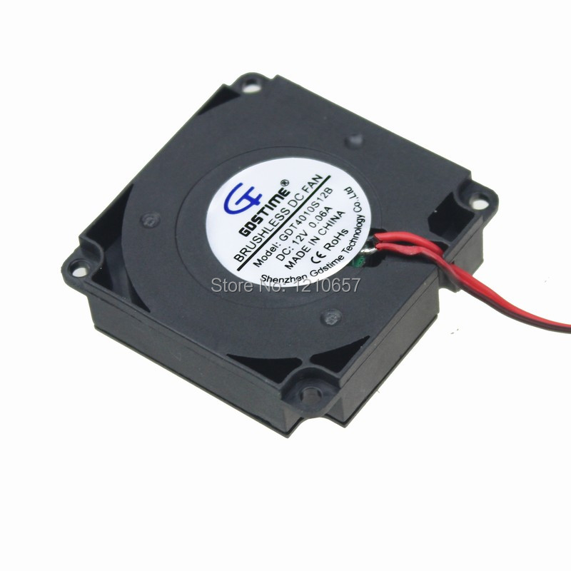 Купить с кэшбэком 2PCS lot 4010 4cm 40x10mm Turbine Blower Cooling Fan 12V 2 Pin DC 40mm 3D Printer 1.2M