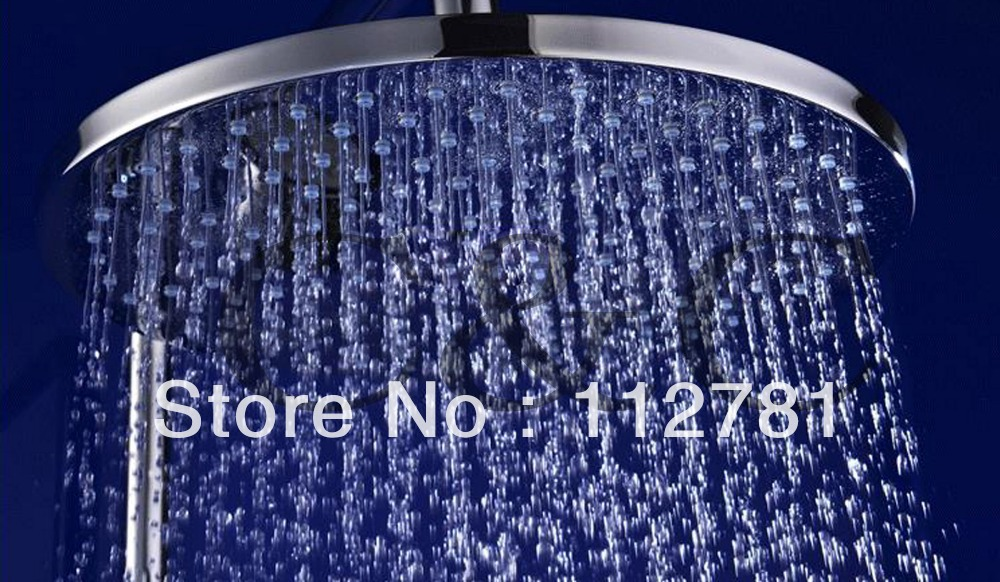Air Drop Rain Bathroom Shower Head 10 Inch Brass Chrome With Water Saving And