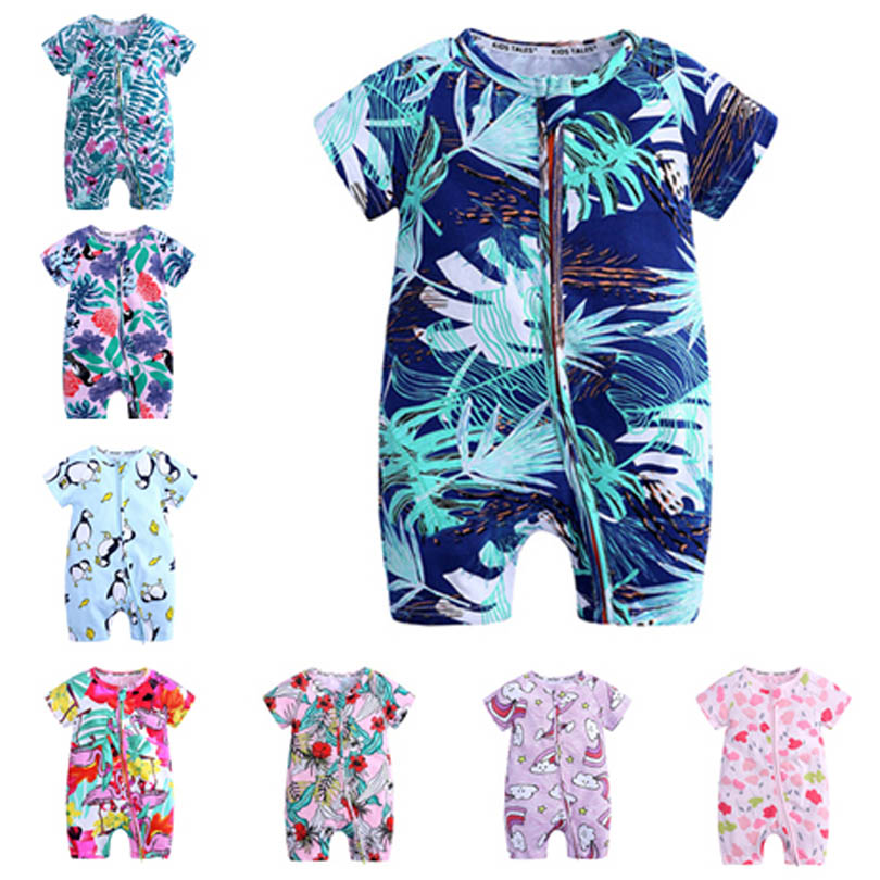 Newborn Baby   Rompers   Summer Baby Boy Girls Clothing Clothes Short Sleeve Baby Girls Boys Clothes Infant Jumpsuits Toddler Bebe