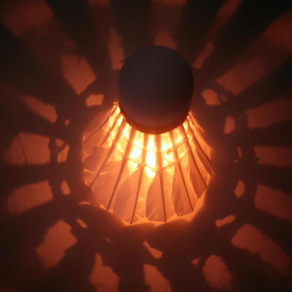New Lighting Badminton Glow In The Dark Night Colorful LED Lighting Sport Badminton Light Spot Shuttlecock