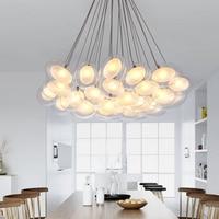 Индивидуальность и творчески Светодиодный яйцо стеклянные люстры гостиной столовой спальня лобби пузырь лампы abaju