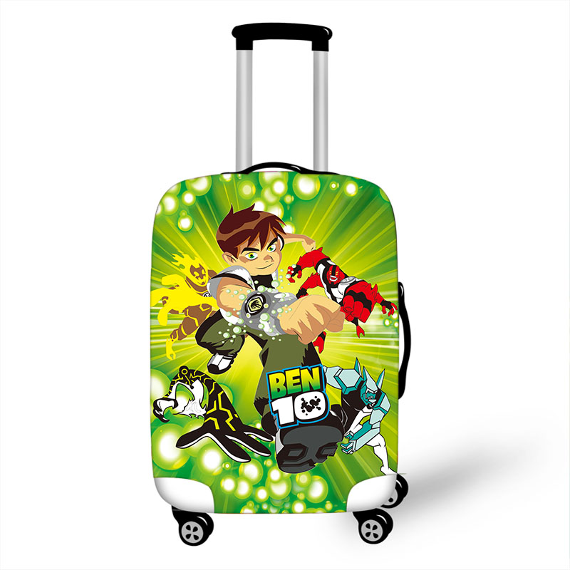 18''-32'' Ben 10 Tennyson Elastic Luggage Protective Cover Trolley Suitcase Dust Bag Case Cartoon Travel Accessories