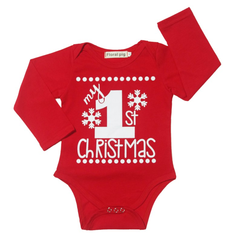 Newborn Baby Kids Girls Boys Merry Christmas Letter Clothing Set Romper One-piece Santa Claus and snowflakes Jumpsuit Outfit Set newborn boys girls christmas santa claus infant new year clothes 4pcs santa christmas tops pants hat socks outfit set costume