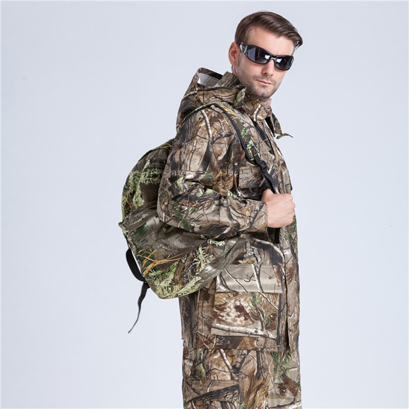 ФОТО Men's Outdoor Hunting Camping Camouflage Clothing Military Fishing Birdwatching Camo Suits (Jacket+Pants) Ghillie Suit Two Color