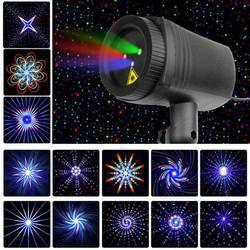 Рождественские Звезды Лазерный свет Душ 24 Шаблоны проектор Эффект дистанционного перемещения Водонепроницаемый Открытый сад Xmas