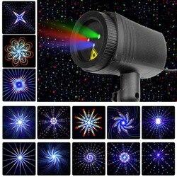 Navidad estrellas láser Luz ducha 24 patrones proyector efecto remoto movimiento impermeable jardín al aire libre Navidad césped decorativo