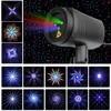 Świąteczne gwiazdki światło laserowe prysznic 24 wzory efekt projektora zdalne przenoszenie wodoodporna ogrodowa Xmas dekoracyjna trawnik