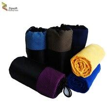 Zipsoft пляжные полотенца квадратный ткань сетка мешок быстросохнущие путешествия спорт полотенце одеяло для купания кемпинг коврик для йоги 2017 микрофибра
