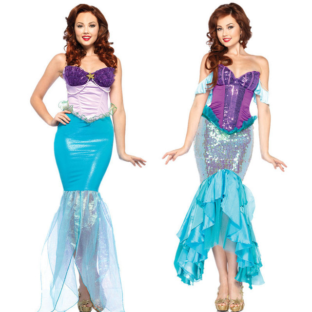 animal mermaid tail costume sexy dresses party halloween costumes for women plus size adult cosplay princess