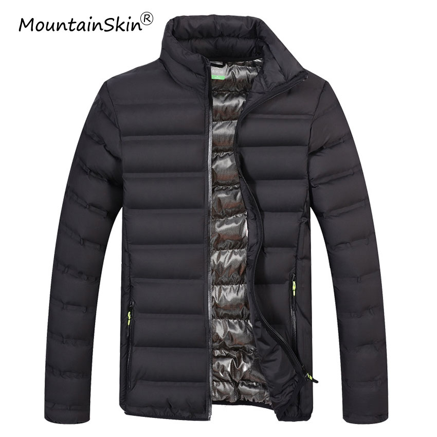 Mountainskin Men Winter Jacket Fashion Thick Warm Coats Male   Parkas   Men Thermal Casual Solid Jackets Men Brand Clothing LA104