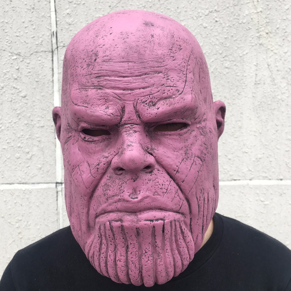 Thanos Mask Helmet Avengers Infinity War Cosplay Superhero Thanos Latex Masks Halloween Party Props DropShipping