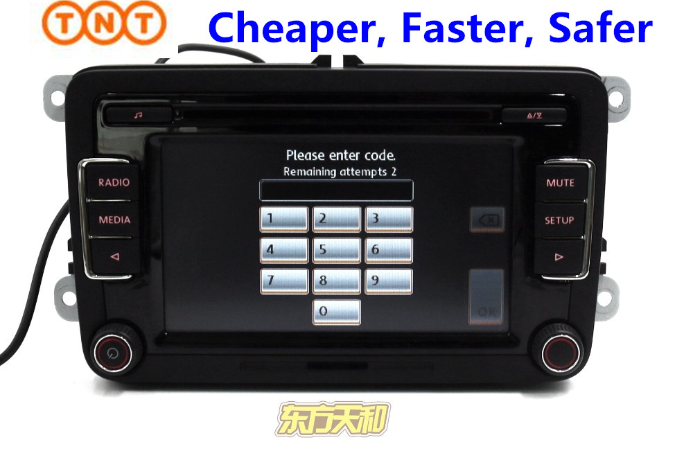 Original Car Radio RCD510 Stereo VW Golf 5 6 Jetta MK5 MK6 CC Tiguan Passat b6 b7with Code Support USB - BeiJing DongFangTianHe Auto Parts store