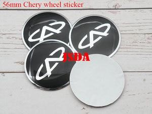Image 3 - 4 шт. 56 мм 60 мм Chery логотип автомобиля эмблема колеса центр ступицы крышки обода ремонт значок украшение покрытие стикер Стайлинг