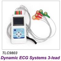 Contec TLC9803 ЭКГ Регистраторы монитор Портативный кабель сердце мониторинга 3 Каналы 24 часов динамичный Системы производитель Бесплатная доста
