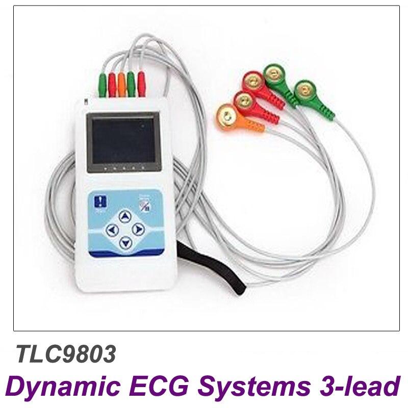 Contec TLC9803 ECG Enregistreur Moniteur Portable Câble Surveillance Cardiaque 3 Canaux 24 heures Dynamique Système Fabricant Livraison Gratuite