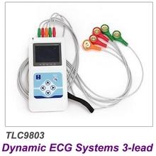 Contec TLC9803 ЭКГ рекордер монитор портативный кабель сердце мониторинг 3 канала 24 часа динамическая система производитель Бесплатная доставка