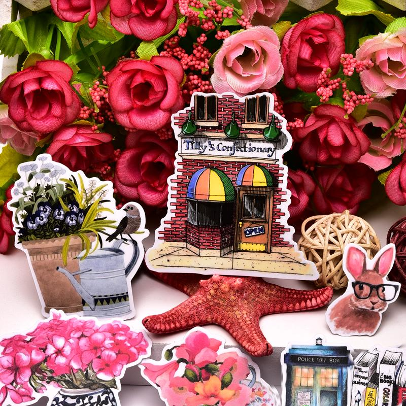 20pcs Cute kawaii Self-made  flower Stickers /Daily life Scrapbooking Sticker Decorative Sticker /DIY Craft Albums/Waterproof