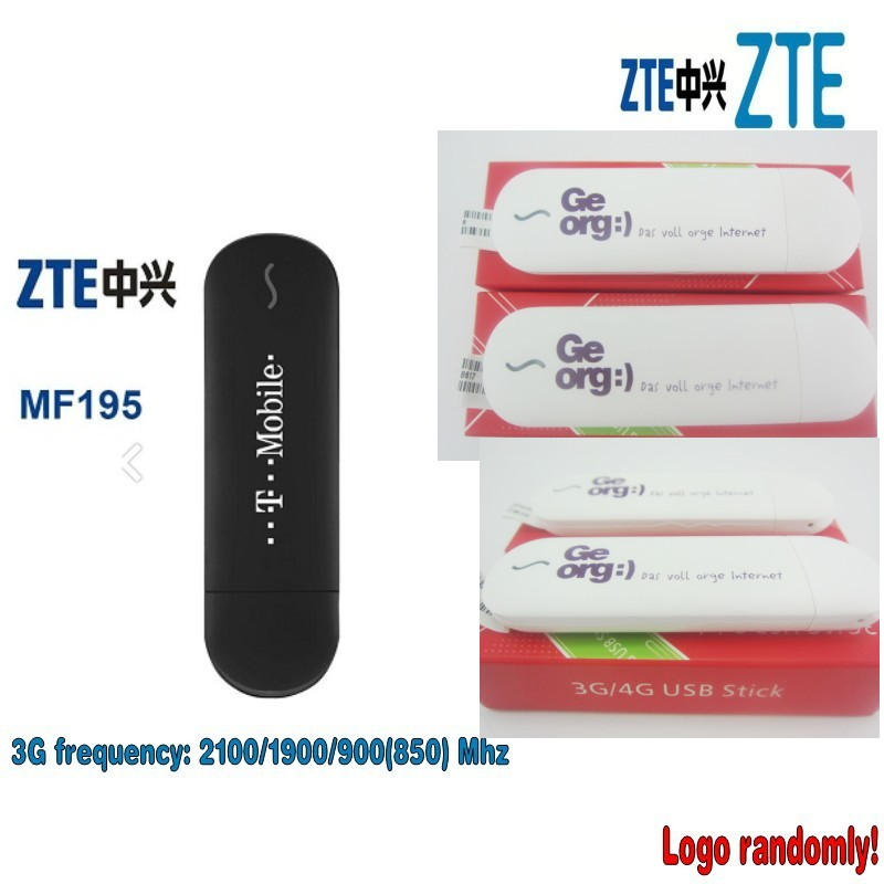Nouveau ZTE MF195 USB Modem HSPA + 3G/débloqué (Logo au hasard)