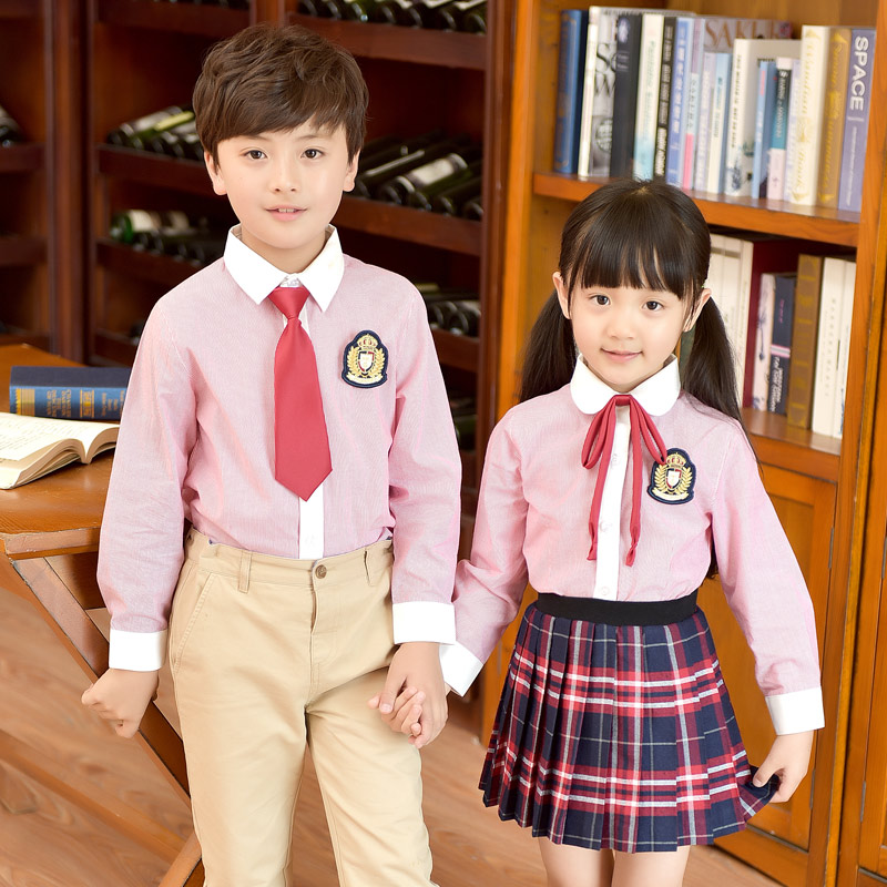 2018 winter children uniforms japanese korean school for girl boys navy style tops skirt shorts tie kids student clothing outfit navy self tie