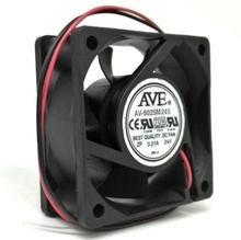 AV-6025M24S 6cm 6025 24V 0.21A Two-wire Cooling Fan Computer Chassis Power Inverter Cooling Fan