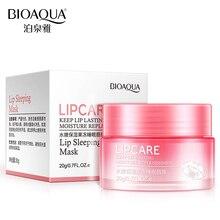 BIOAQUA Strawberry Lip Sleeping Mask Exfoliator Lips Balm Moisturizer Nourish Lip Plumper Vitamin C Skin Care Enhancer Cream 20g