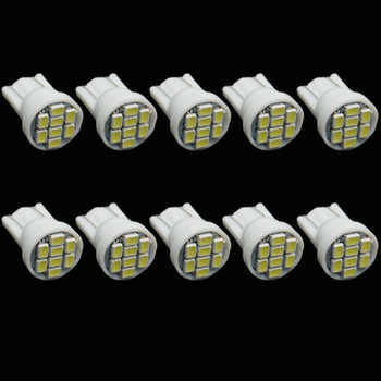 4 pcs Auto led car Indicator lighting wedge high bright Factory bulb white 1206 T10 8smd led 194 168 192 W5W