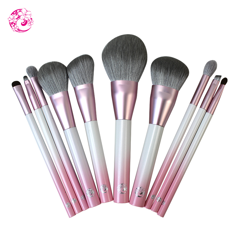 ENERGY Brand Professional 10pcs Makeup Brush Set Make Up Brushes Brochas Maquillaje Pinceaux Maquillage zw01