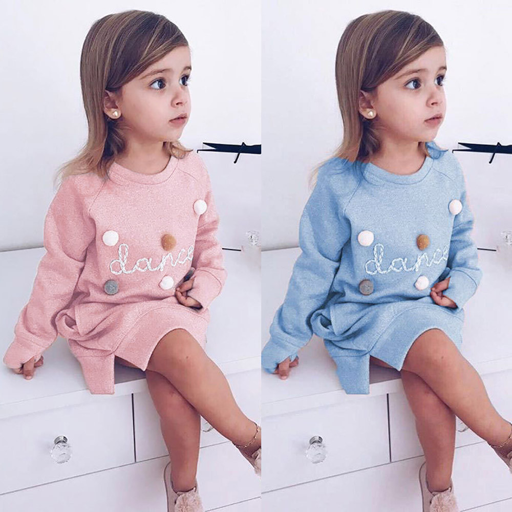 Children's Clothing Toddler Kids Baby Girl Letter Pullover Sweatshirt Clothes Outfits Kid Clothes #6