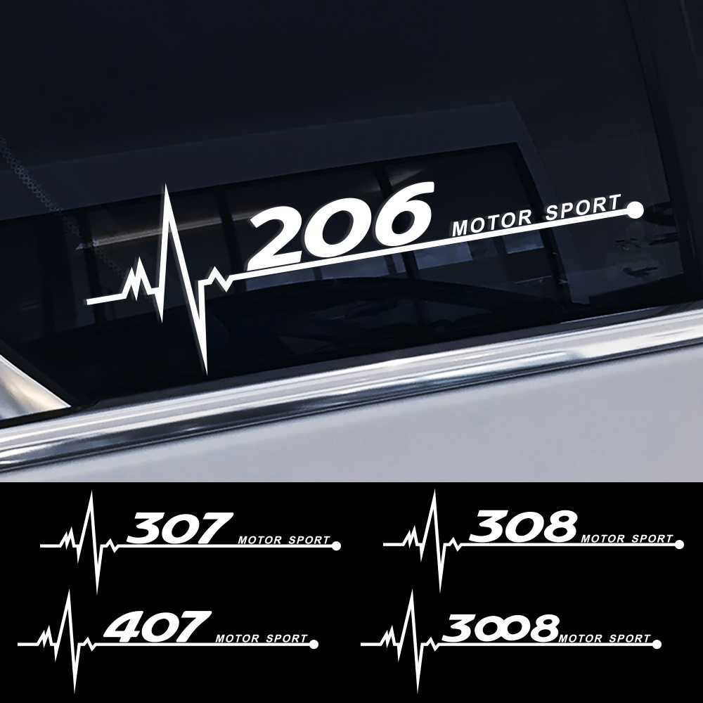 Car Reflective PVC Decor Side Window Sticker For Peugeot 206 307 308 407 207 3008 208 508 2008 301 408 607 4008 5008 Accessories