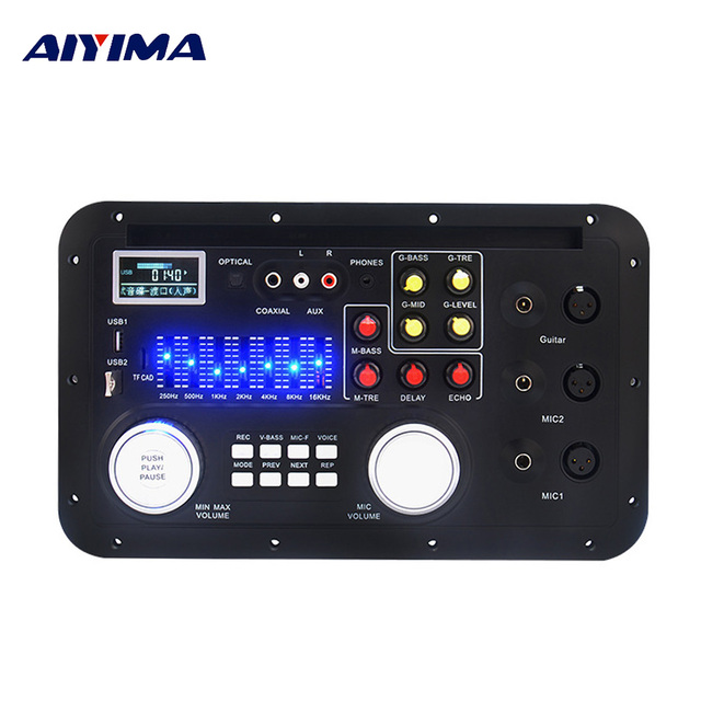 AIYIMA DSP Bluetooth MP3 décodeur conseil karaoké préampli mélangeur EQ sans perte Fiber Coaxial égaliseur pour amplificateur Audio Home cinéma