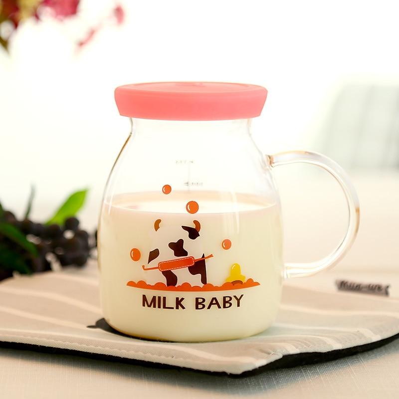 Cartoon Milk Mug Can Use Microwave Heating With Glass-in ...