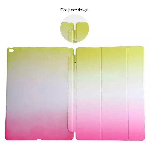 For iPad Mini 4 Rainbow Colorful Gradual Intelligent Wake Sleep Smart Case for iPad Mini4