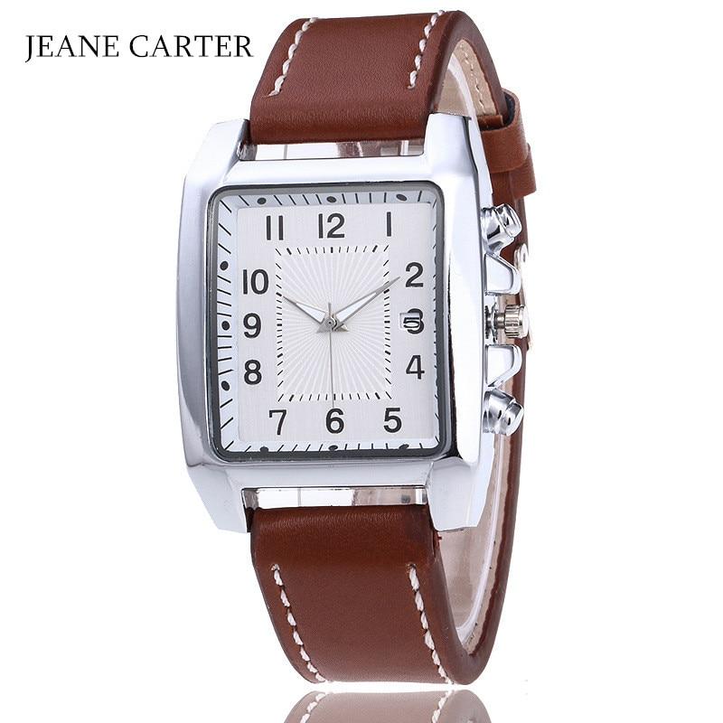 Fashion Rectangular Dial Quartz Watch Men Watches Top Brand Luxury Male Clock Business Mens Wristwatch No Logo Relogio Masculino