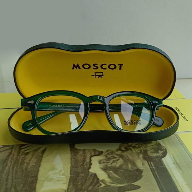 Johnny Depp Glasses Men Green Optical Glasses Frame Women Fashion Brand Design Acetate Vintage Eyeglasses Top Quality Box Z081